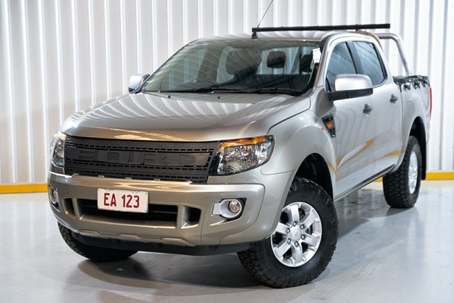 Used Ford Ranger PX XLS Double Cab Hendra, 2014 Ford Ranger PX XLS Double Cab Bronze 6 Speed Sports Automatic Utility