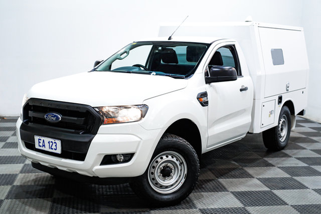 Used Ford Ranger PX MkII XL Hi-Rider Edgewater, 2016 Ford Ranger PX MkII XL Hi-Rider White 6 Speed Sports Automatic Cab Chassis