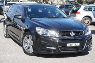 2013 Holden Commodore VF MY14 SV6 Sportwagon Black 6 Speed Sports Automatic Wagon.