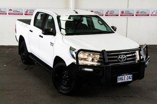 2018 Toyota Hilux GUN136R MY17 SR Hi-Rider Glacier White 6 Speed Automatic Dual Cab Utility.