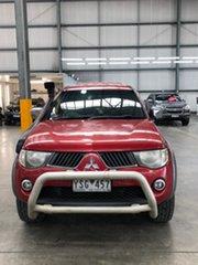 2008 Mitsubishi Triton ML MY08 GLX-R Double Cab Red 4 Speed Automatic Utility