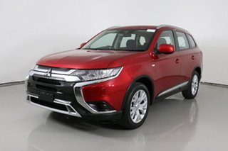 2019 Mitsubishi Outlander ZL MY20 ES 7 Seat (AWD) Red Continuous Variable Wagon.