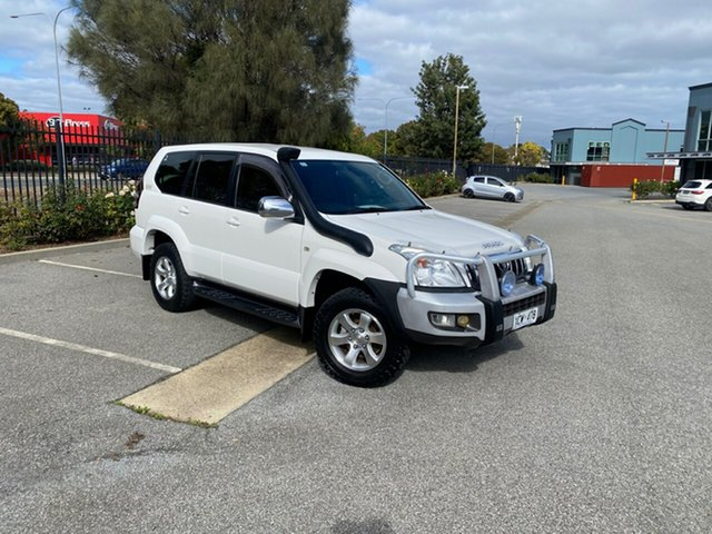 Used Toyota Landcruiser Prado KZJ120R GXL Mile End, 2004 Toyota Landcruiser Prado KZJ120R GXL White 4 Speed Automatic Wagon
