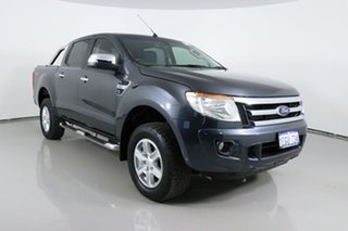2013 Ford Ranger PX XLT 3.2 (4x4) Grey 6 Speed Manual Double Cab Pick Up.