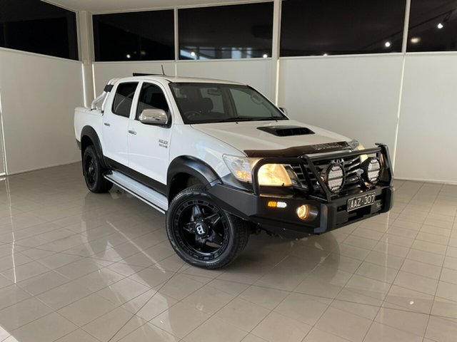 Used Toyota Hilux KUN26R MY14 SR5 Double Cab Deer Park, 2014 Toyota Hilux KUN26R MY14 SR5 Double Cab White 5 Speed Automatic Utility