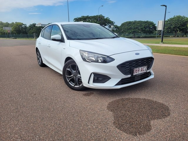 Used Ford Focus SA 2019.25MY ST-Line Townsville, 2019 Ford Focus SA 2019.25MY ST-Line Frozen White 8 Speed Automatic Hatchback
