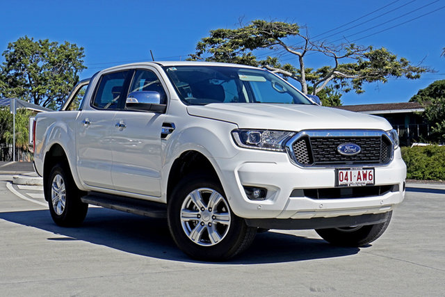 Used Ford Ranger PX MkIII 2021.25MY XLT Hi-Rider Capalaba, 2020 Ford Ranger PX MkIII 2021.25MY XLT Hi-Rider Arctic White 6 Speed Sports Automatic