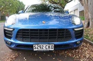 2015 Porsche Macan 95B MY16 S PDK AWD Blue 7 Speed Sports Automatic Dual Clutch Wagon.