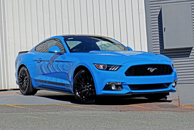 Used Ford Mustang FM 2017MY Fastback Springwood, 2016 Ford Mustang FM 2017MY Fastback Blue 6 Speed Manual Fastback