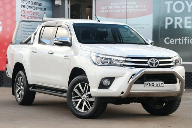 Pre-Owned Toyota Hilux GUN126R 4x4 Guildford, 2016 Toyota Hilux GUN126R 4x4 Crystal Pearl 6 Speed Automatic Dual Cab