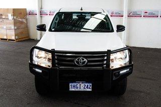 2018 Toyota Hilux GUN136R MY17 SR Hi-Rider Glacier White 6 Speed Automatic Dual Cab Utility