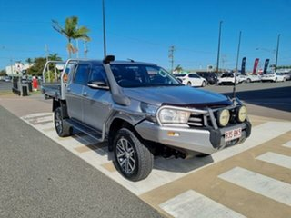 2016 Toyota Hilux GUN126R SR Double Cab Silver Sky 6 Speed Manual Cab Chassis.