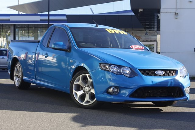 Used Ford Falcon FG XR6 Ute Super Cab Mount Gravatt, 2009 Ford Falcon FG XR6 Ute Super Cab Blue 5 Speed Sports Automatic Utility