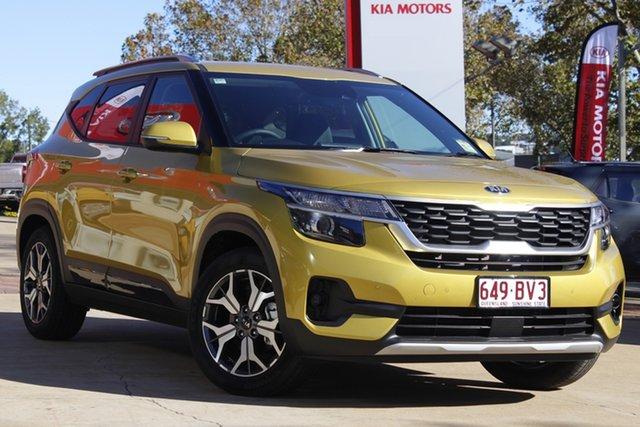 Demo Kia Seltos SP2 MY21 Sport+ 2WD Toowoomba, 2021 Kia Seltos SP2 MY21 Sport+ 2WD Starbright Yellow 1 Speed Constant Variable Wagon