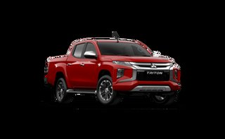 2021 Mitsubishi Triton MR MY21 GLS Double Cab Red Solid 6 Speed Sports Automatic Utility.