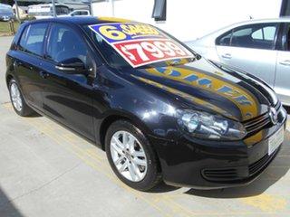 2009 Volkswagen Golf VI MY10 118TSI Comfortline Black 6 Speed Manual Hatchback.