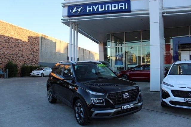 Demo Hyundai Venue QX.V3 MY21 Active Cardiff, 2020 Hyundai Venue QX.V3 MY21 Active Phantom Black 6 Speed Automatic Wagon