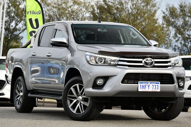 Used Toyota Hilux GUN126R SR5 Double Cab Clarkson, 2018 Toyota Hilux GUN126R SR5 Double Cab Silver 6 Speed Sports Automatic Utility