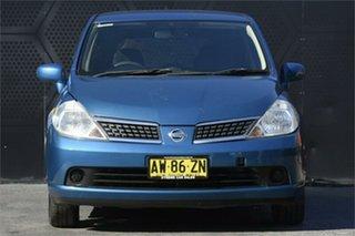 2008 Nissan Tiida C11 MY07 ST-L Blue 6 Speed Manual Hatchback.