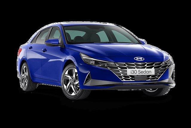 Demo Hyundai i30 CN7.V1 MY21 Elite Hamilton, 2021 Hyundai i30 CN7.V1 MY21 Elite Intense Blue 6 Speed Sports Automatic Sedan