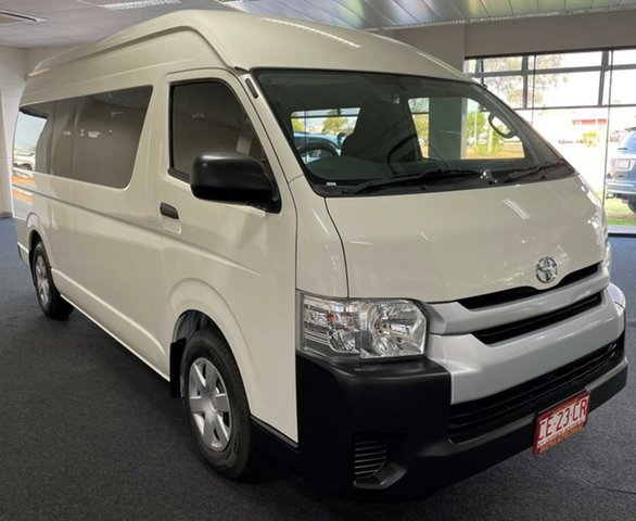 Used Toyota HiAce KDH223R Commuter High Roof Super LWB Winnellie, 2017 Toyota HiAce KDH223R Commuter High Roof Super LWB White 4 Speed Automatic Bus