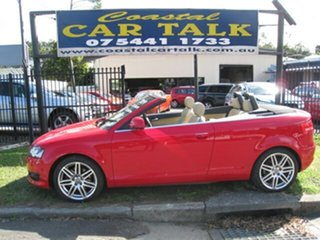 2009 Audi A3 8P 2.0 TFSI Ambition Red 6 Speed Direct Shift Cabriolet.