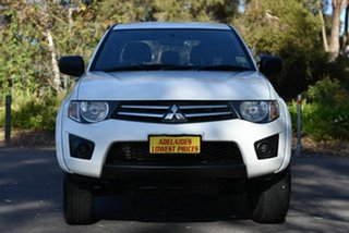 2015 Mitsubishi Triton MN MY15 GLX Double Cab White 5 Speed Manual Utility.