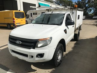 2013 Ford Ranger PX XL Cool White 6 speed Manual Cab Chassis.