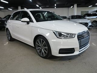 2018 Audi A1 8X MY18 Sportback S Tronic White 7 Speed Sports Automatic Dual Clutch Hatchback.
