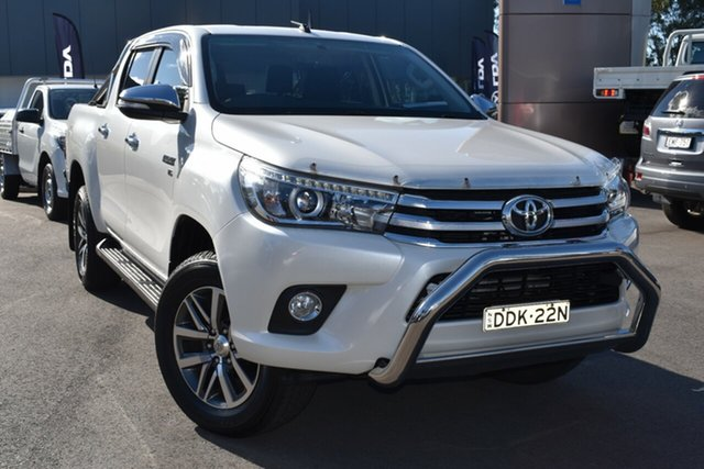 Used Toyota Hilux GGN125R SR5 Double Cab Tuggerah, 2016 Toyota Hilux GGN125R SR5 Double Cab White 6 Speed Sports Automatic Utility
