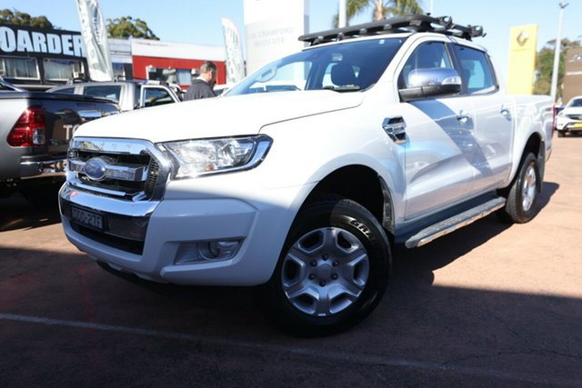 Used Ford Ranger PX MkII XLT 3.2 (4x4) Brookvale, 2016 Ford Ranger PX MkII XLT 3.2 (4x4) White 6 Speed Automatic Double Cab Pick Up