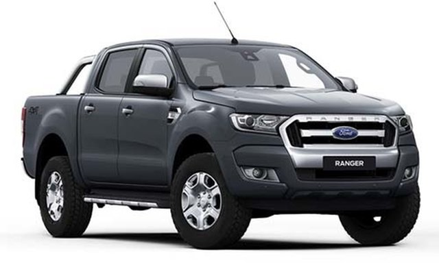 New Ford Ranger PX MkIII 2021.25MY XLT Double Cab Hamilton, 2021 Ford Ranger PX MkIII 2021.25MY XLT Double Cab Magnetic Grey 6 Speed Sports Automatic