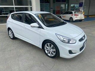 2018 Hyundai Accent RB6 MY19 Sport Chalk White 6 Speed Sports Automatic Sedan.