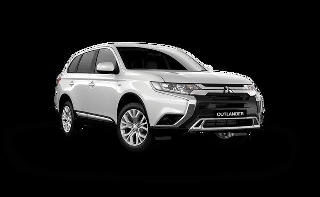 Demo Mitsubishi Outlander ZL MY21 ES AWD Hamilton, 2021 Mitsubishi Outlander ZL MY21 ES AWD White Solid 6 Speed Constant Variable Wagon