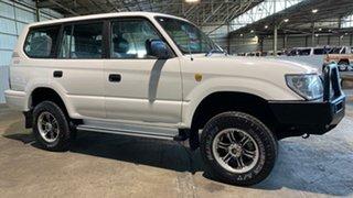 2001 Toyota Landcruiser Prado KZJ95R RV White 5 Speed Manual Wagon.