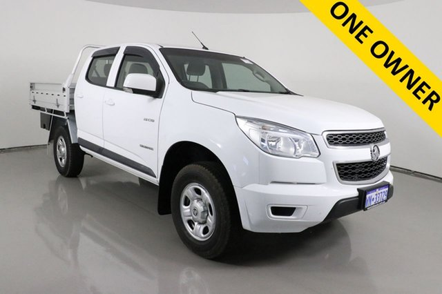 Used Holden Colorado RG MY14 LX (4x2) Bentley, 2014 Holden Colorado RG MY14 LX (4x2) Summit White 6 Speed Automatic Crew Cab Chassis