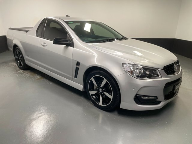 Used Holden Ute VF II MY16 SV6 Ute Black Hamilton, 2016 Holden Ute VF II MY16 SV6 Ute Black Silver 6 Speed Sports Automatic Utility