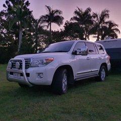2012 Toyota Landcruiser VDJ200R MY12 Sahara White 6 Speed Sports Automatic Wagon
