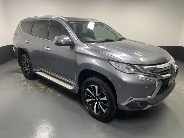 Used Mitsubishi Pajero Sport QE MY17 Exceed Hamilton, 2017 Mitsubishi Pajero Sport QE MY17 Exceed Grey 8 Speed Sports Automatic Wagon