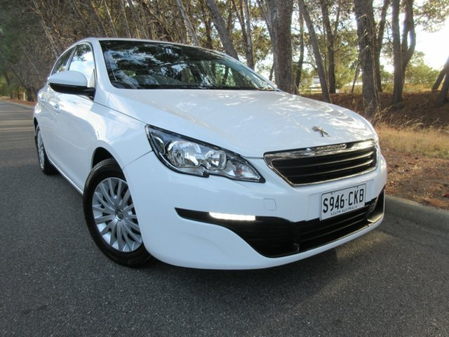 Used Peugeot 308 T9 Access Reynella, 2014 Peugeot 308 T9 Access Bianca White 6 Speed Manual Hatchback