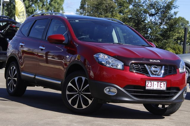 Used Nissan Dualis J107 Series 3 MY12 +2 X-tronic AWD Ti-L Bundamba, 2012 Nissan Dualis J107 Series 3 MY12 +2 X-tronic AWD Ti-L Magnetic Red 6 Speed Constant Variable