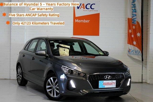 Used Hyundai i30 PD2 MY19 Active Moorabbin, 2019 Hyundai i30 PD2 MY19 Active Grey 6 Speed Sports Automatic Hatchback
