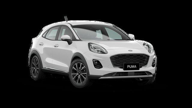 New Ford Puma JK 2021.25MY Puma Cardiff, 2021 Ford Puma JK 2021.25MY Puma Frozen White 7 Speed Sports Automatic Dual Clutch Wagon