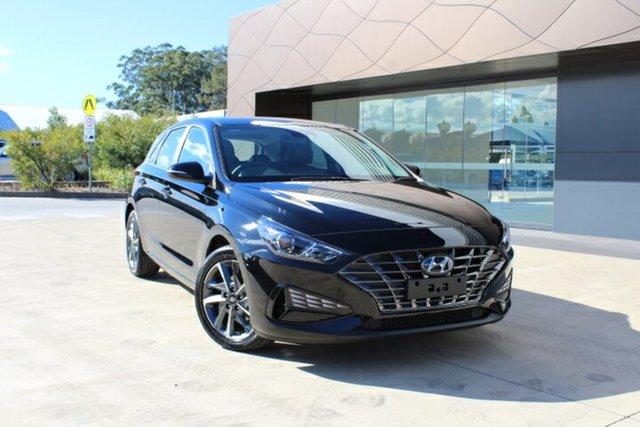 Demo Hyundai i30 PD.V4 MY21 Active Tuggerah, 2021 Hyundai i30 PD.V4 MY21 Active Phantom Black 6 Speed Sports Automatic Hatchback