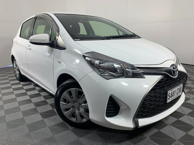 Used Toyota Yaris NCP130R Ascent Wayville, 2015 Toyota Yaris NCP130R Ascent White 4 Speed Automatic Hatchback