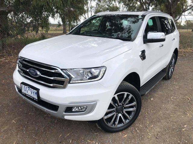 Used Ford Everest UA II 2019.75MY Titanium Epsom, 2019 Ford Everest UA II 2019.75MY Titanium White 10 Speed Sports Automatic SUV