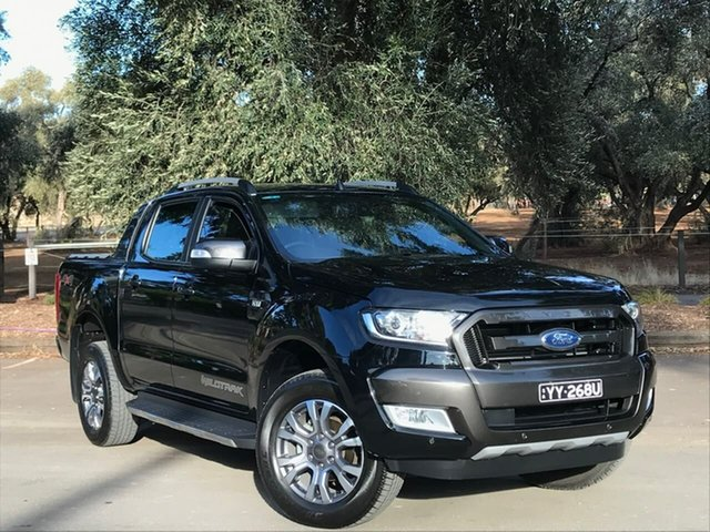 Used Ford Ranger PX MkII Wildtrak Double Cab Adelaide, 2017 Ford Ranger PX MkII Wildtrak Double Cab Black 6 Speed Sports Automatic Utility
