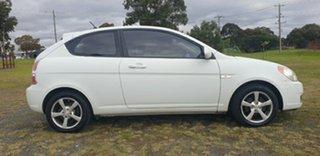 2006 Hyundai Accent MC White 5 Speed Manual Hatchback.