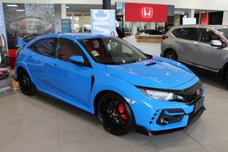 2021 Honda Civic 10th Gen MY21 Type R Racing Blue 6 Speed Manual Hatchback.