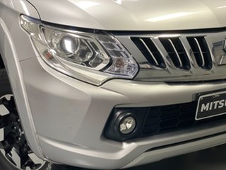 2015 Mitsubishi Triton MQ MY16 Exceed Double Cab Silver, Chrome 5 Speed Sports Automatic Utility.